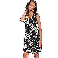 Wallis - Black lily print swing dress