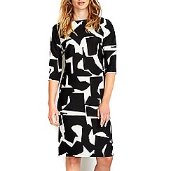 Wallis - Monochrome printed shift dress