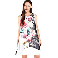 Wallis - Black floral overlay dress