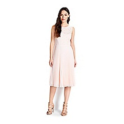 Wallis - Pale pink pleated dress
