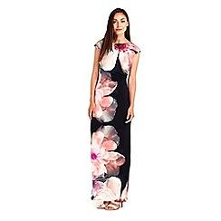 Wallis - Pink floral printed maxi dress