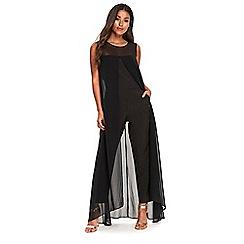 Wallis - Black split front jumpsuit