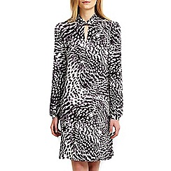 Wallis - Animal print high neck swing dress