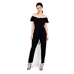 Wallis - Black bardot stretch jumpsuit