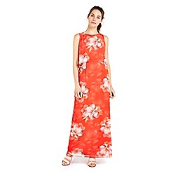 Wallis - Orange floral overaly maxi dress