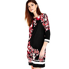 Wallis - Black floral tunic dress