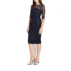Wallis - Navy lace panel shift dress