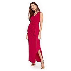 Wallis - Pink ruffle detail maxi dress