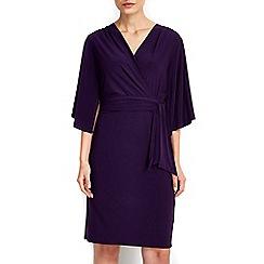 Wallis - Purple flare sleeve wrap dress