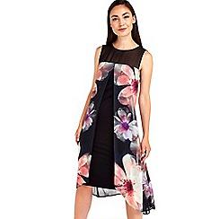 Wallis - Pink floral blur print dress