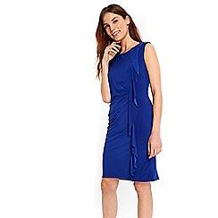 Wallis - Cobalt ruffle detail dress