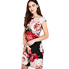 Wallis - Black floral bloom print dress
