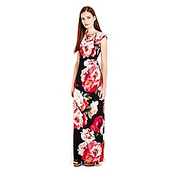 Wallis - Black floral printed bloom maxi dress