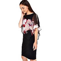 Wallis - Pink floral asymmetric overlay top