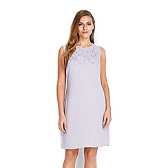Wallis - Grey floral applique shift dress