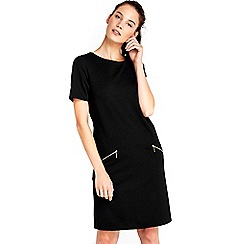 Wallis - Black zip dress