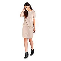 Wallis - Camel zip dress