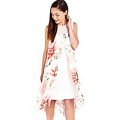Wallis - Ivory pink printed floral dress