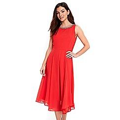Wallis - Coral asymmetric dress