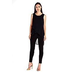 Wallis - Diagonal split overlayer jumpsuit