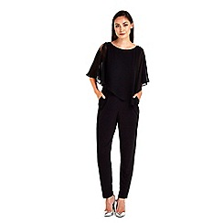 Wallis - Asymettric overlayer jumpsuit