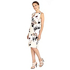 Wallis - Rose printed rouche side dress