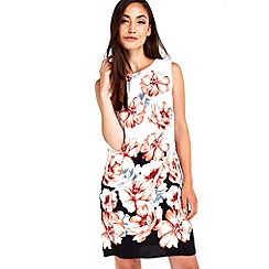 Wallis - Floral border printed pinny dress