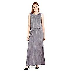 Wallis - Grey plisse maxi dress