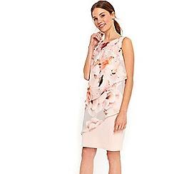 Wallis - Apricot tiered dress