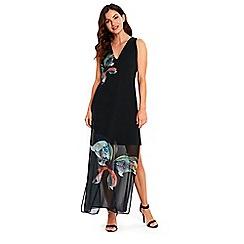 Wallis - Black butterfly layered dress