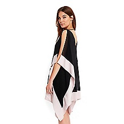 Wallis - Black contrast cold shoulder dress