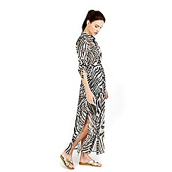 Wallis - Zebra maxi shirt dress