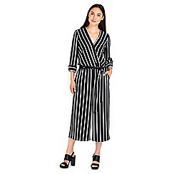Wallis - Black pinstripe jumpsuit