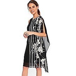 Wallis - Monochrome floral shift dress