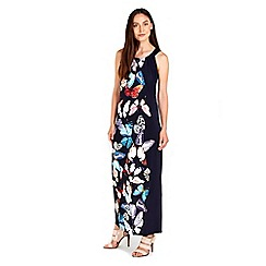 Wallis - Navy butterfly printed maxi dress