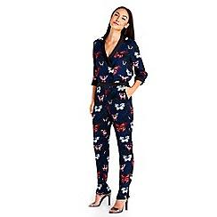 Wallis - Butterfly print jumpsuit