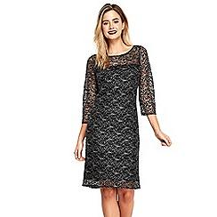 Wallis - Silver lace shift dress