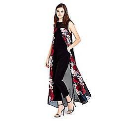 Wallis - Floral print split front jumpsuit