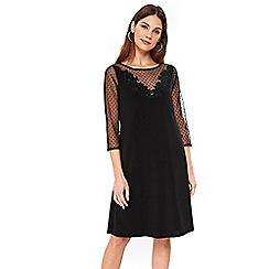 Wallis - Black detail swing dress