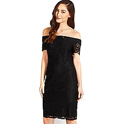Wallis - Black lace bardot dress