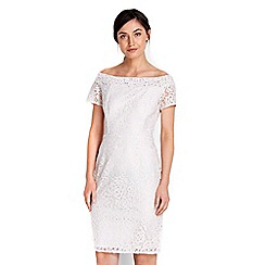 Wallis - Oyster cord lace bardot dress