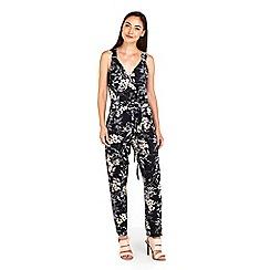 Wallis - Monochrome floral jumpsuit