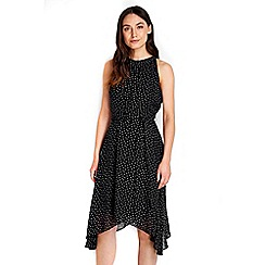 Wallis - Black ditsy spot dress