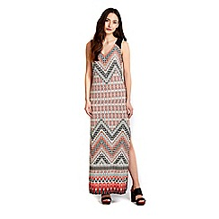 Wallis - Orange tribal maxi dress