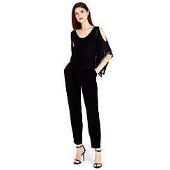 Wallis - Black diamante trim jumpsuit