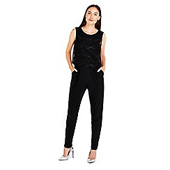 Wallis - Black lace pop top jumpsuit