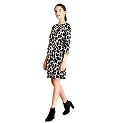 Wallis - Animal print jacquard dress