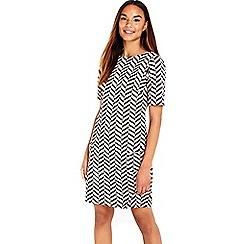 Wallis - Monochrome jacquard tunic dress