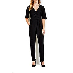 Wallis - Black flare sleeve jumpsuit