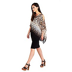 Wallis - Animal printed overlay dress